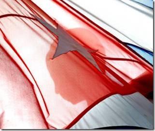 Bandera cubana, Cuba x Dentro