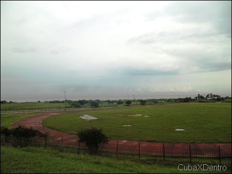 Vista de la Pista de Calentamiento del Estadio Panamericano