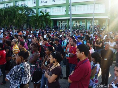 Acto de apoyo a Gobierno Bolivariano en la UCI