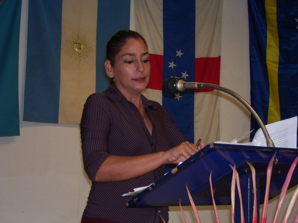 Kenia Dorta, presidenta del Comité Organizador del Coloquio y subdirectora de Investigaciones de la Casa del Caribe. Foto: El autor.