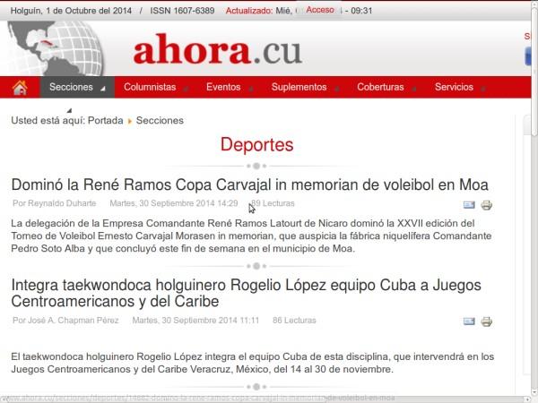 Periódico Provincial Ahora de Holguín