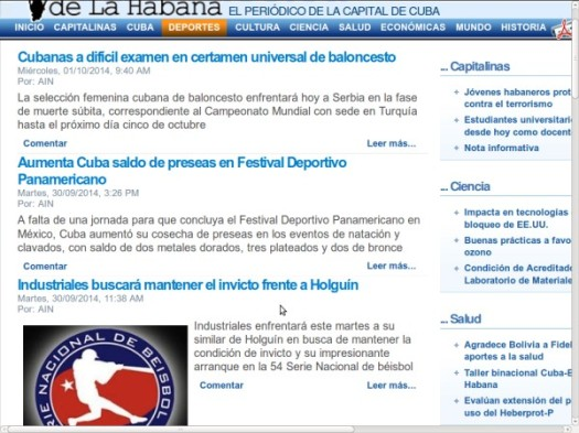 Periódico Provincial Tribuna de la Habana