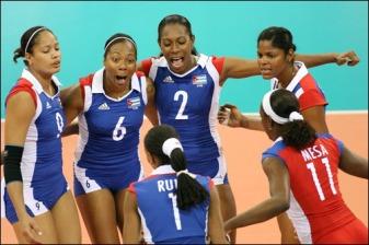 Equipo Cuba festeja una acción