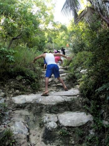 Los primeros pasos de la escalada