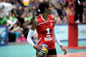 Yumilka Ruiz en la Super Liga de Rusa