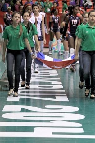 Equipo Cuba de voly femenino en Veracruz 2014