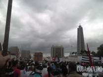 Multitudinario desfile por el Primero de Mayo en La Habana