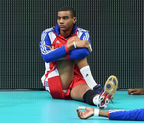 Cuba's players after losing a match against Finland