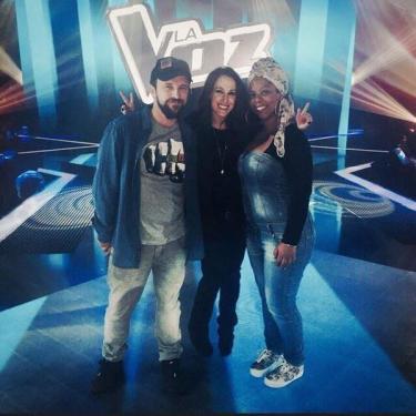 Diana junto a Malú durante la tercera edición del concurso televisivo La Voz de España