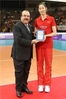 Zhu Ting la jugadora más valiosa de la Copa del Mundo de Voleibol Femenino