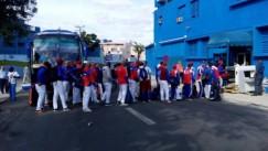 Equipo Cuba de beísbol para el encuentro contra el Tampa Bay