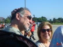 René González fue unos de los invitados de honor del Festival Aéreo Salto por Fidel en la Universidad de Ciencias Informáticas