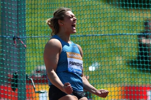 Sandra Perkovic se reafirma como líder de la temporada