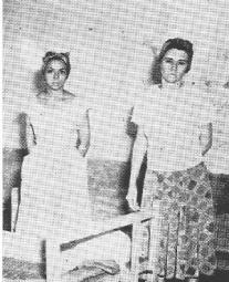 Melba Hernández y Haydé Santamaría después de las acciones del 26 de julio