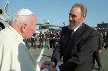 Fidel junto al Papa Juan Pablo II