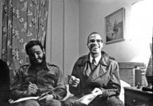 Fidel junto a Malcom X