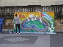 Las artes plásticas unas de las iniciativas de la jornada para demandar el injusto bloqueo económico contra Cuba