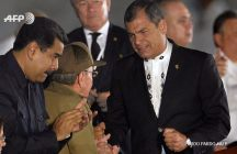 La Plaza por última vez/ Rafael Correa junto a Raúl