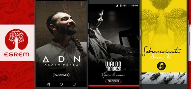 Producciones discográficas de la EGREM en formato de aplicación para dispositivos móviles