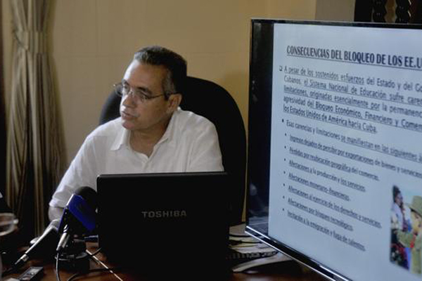 CUBA-LA HABANA-CONFERENCIA DE PRENSA POR AFECTACIONES A LA EDUCACIÓN COMO CONSECUENCIA DEL BLOQUEO